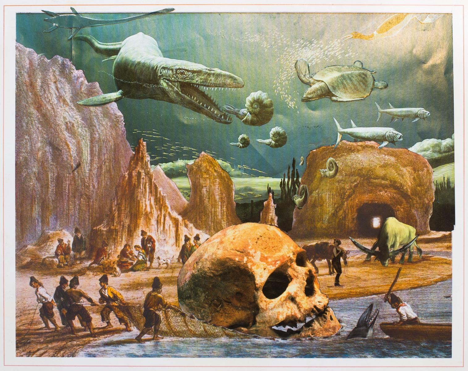 Vista de los peñascos de la Iglesia en el Pleistoceno