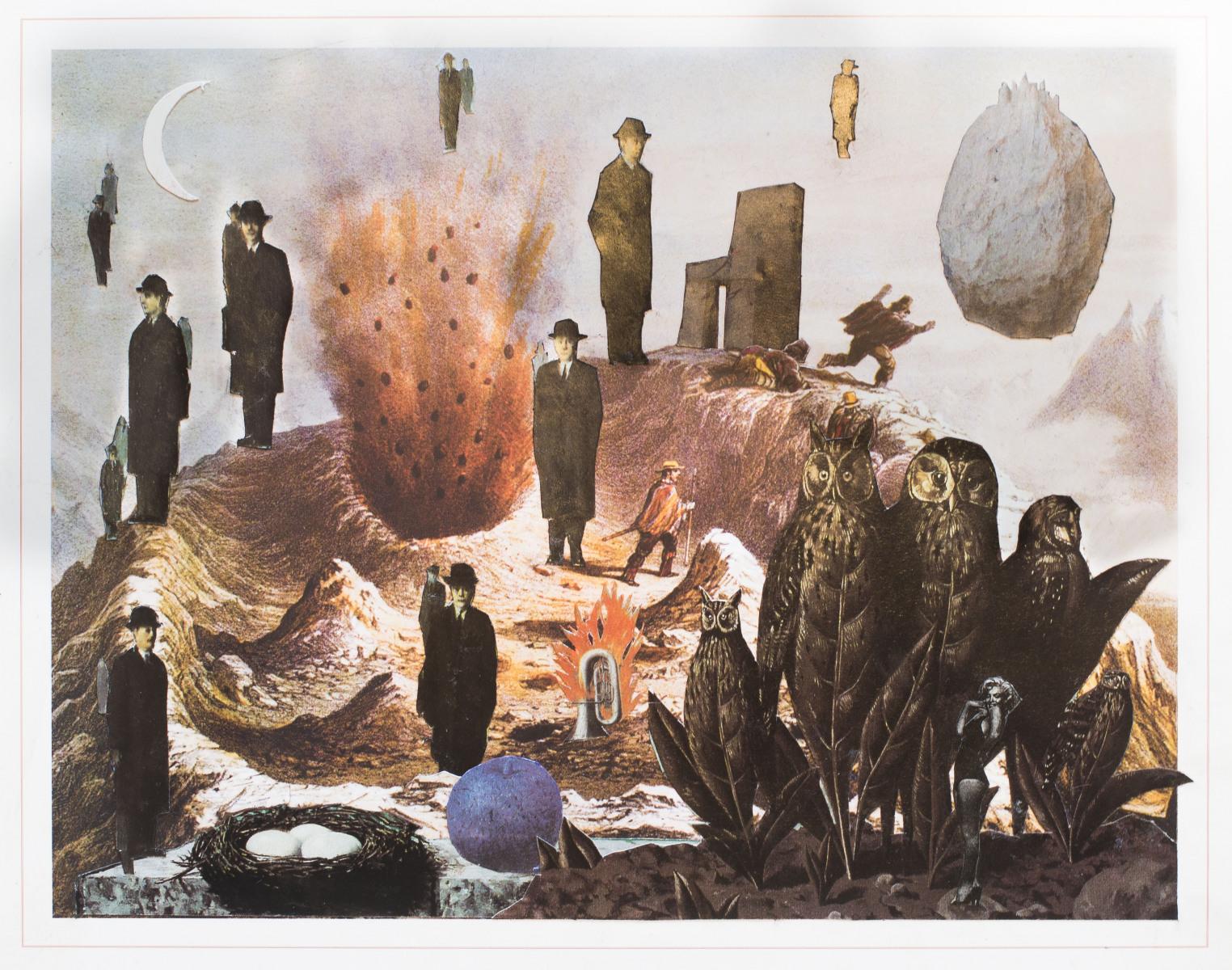 Vista del volcán Antuco de Magritte